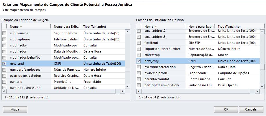 CRM 2011 - Mapeamento de Atributos (3/6)
